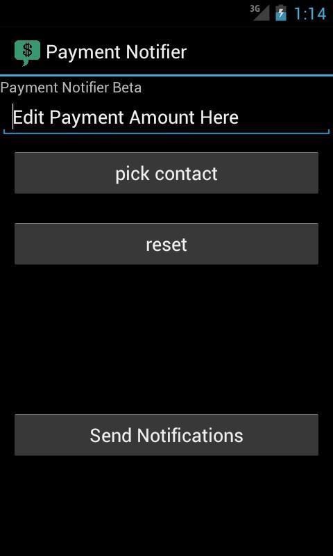 Payment Notifier- screenshot