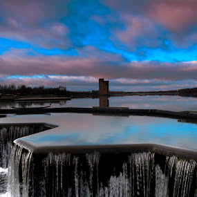 by Andrew Percival - Landscapes Waterscapes ( clouds, water, scotland, detail, skyline, waterscape, waterfall, landscape )