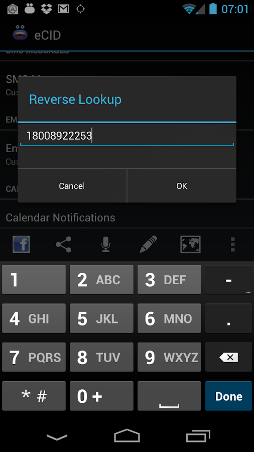 Enhanced SMS & Caller ID+- screenshot