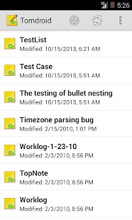 Tomdroid notes- screenshot thumbnail