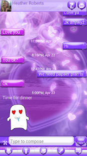 玩個人化App|Purple Haze Hearts GO SMS PRO免費|APP試玩
