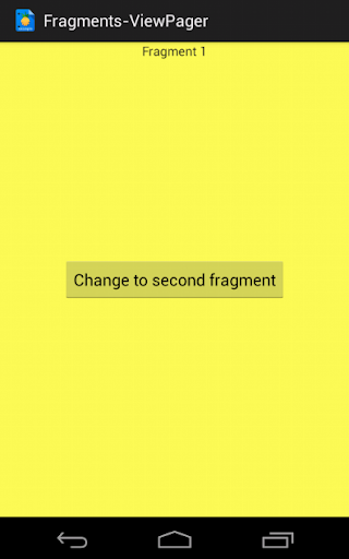 Fragments in ViewPager example