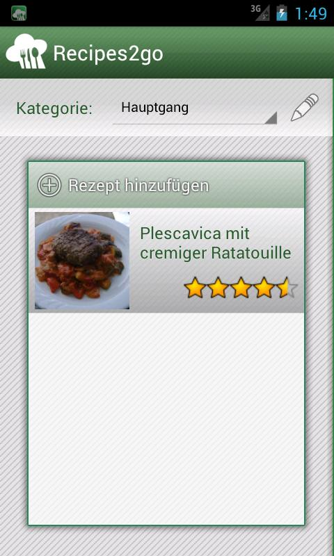 Recipes2go - Rezepte unterwegs - screenshot