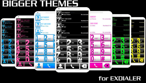 EXDIALER BIGGER PINK WHT THEME