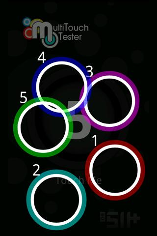 MultiTouch Tester - screenshot