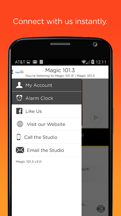 Magic 101.3- screenshot