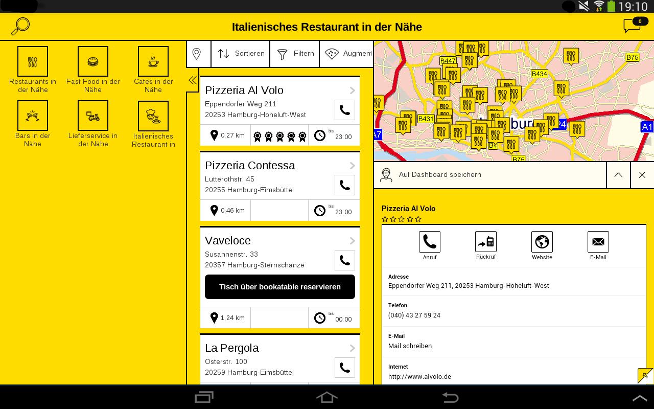 Gelbe Seiten - screenshot