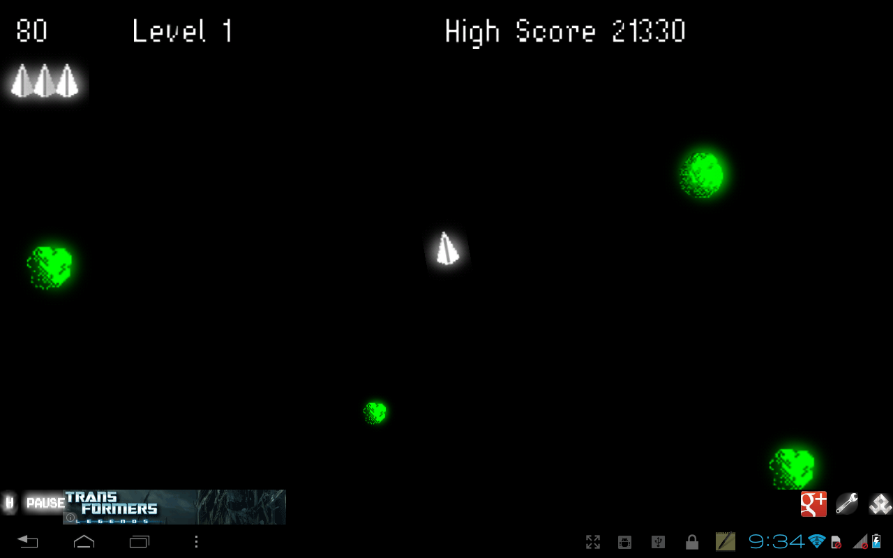 Megaroids (Asteroid game) - screenshot
