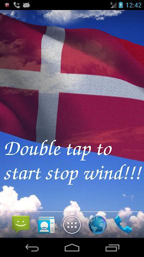 3D Denmark Flag LWP +
