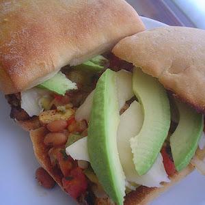 Mushroom and Vegetarian Chili Sandwiches