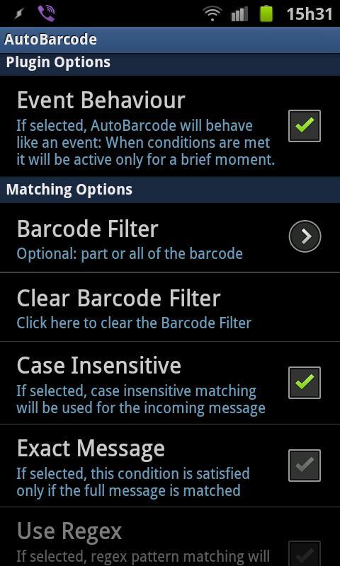 AutoBarcode - screenshot