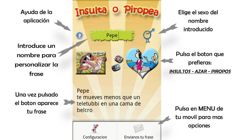 Insultos y Piropos PLUS - screenshot