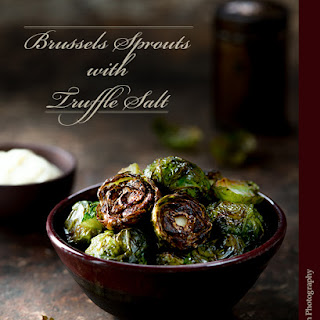 Roasted Brussels Sprouts with Truffle Salt and Aioli.