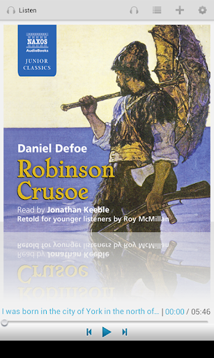 Robinson Crusoe: Audiobook App