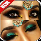 Eyes makeup step by step