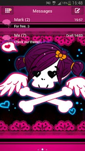 GO SMS Pro Theme Emo Pink- screenshot thumbnail