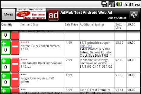 Grocery Smarts Coupon Shopper - screenshot thumbnail