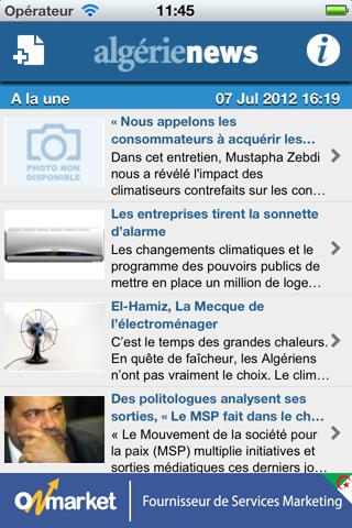 AlgerieNews - screenshot