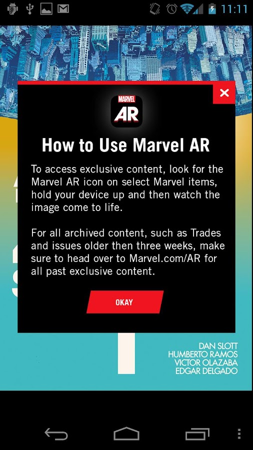 Marvel AR - screenshot