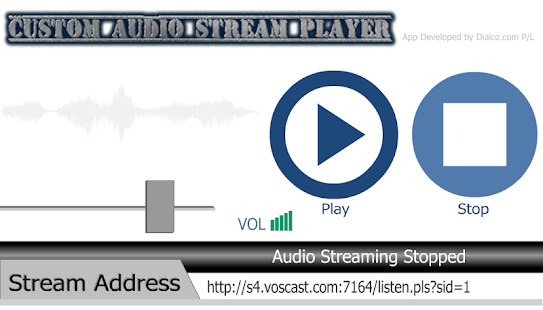 Custom Audio Stream Player- screenshot thumbnail
