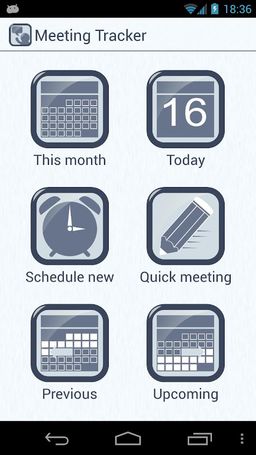 Meeting Tracker- screenshot