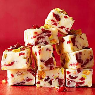 Creamy Cranberry Fudge.