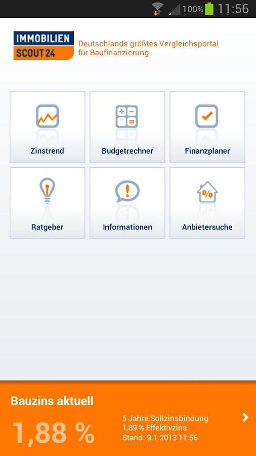 Finanzplaner Baufinanzierung - screenshot