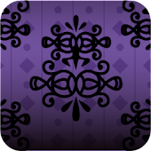 Purple design wallpaper