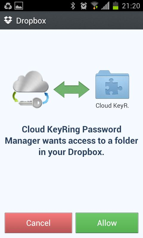 Cloud Free Password Manager - screenshot