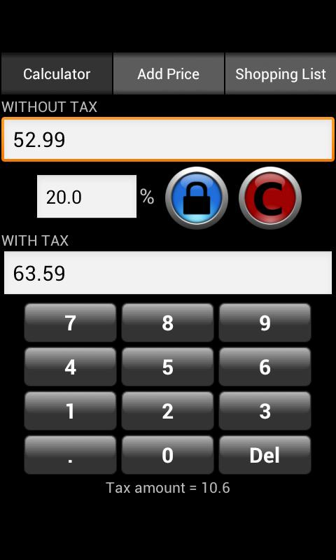 Simple Tax Calculator - screenshot