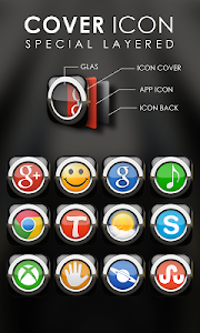 Next Launcher Theme Black v2.35