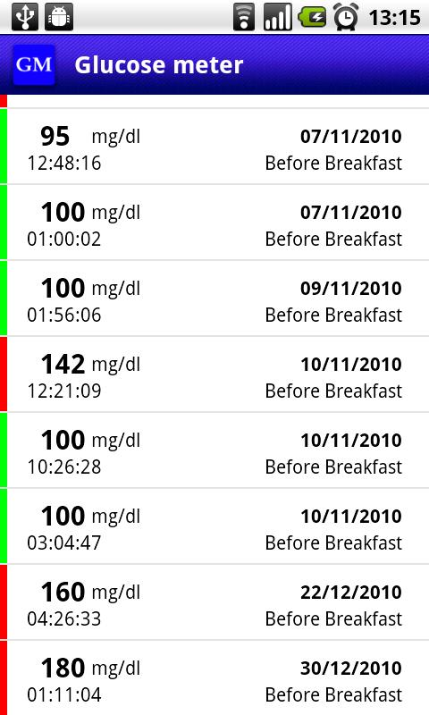 Glucose Meter - Diabetes - screenshot