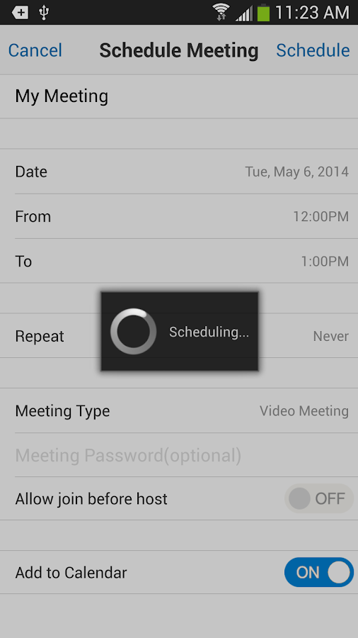 RingCentral Meetings - screenshot