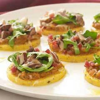 Pancetta & Arugula Polenta Pizzettes