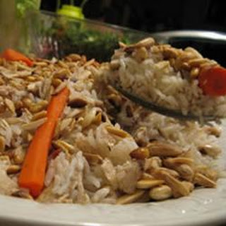 Upside Down Chicken Rice.