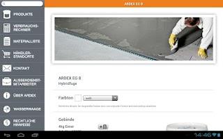 Screenshot of ARDEX