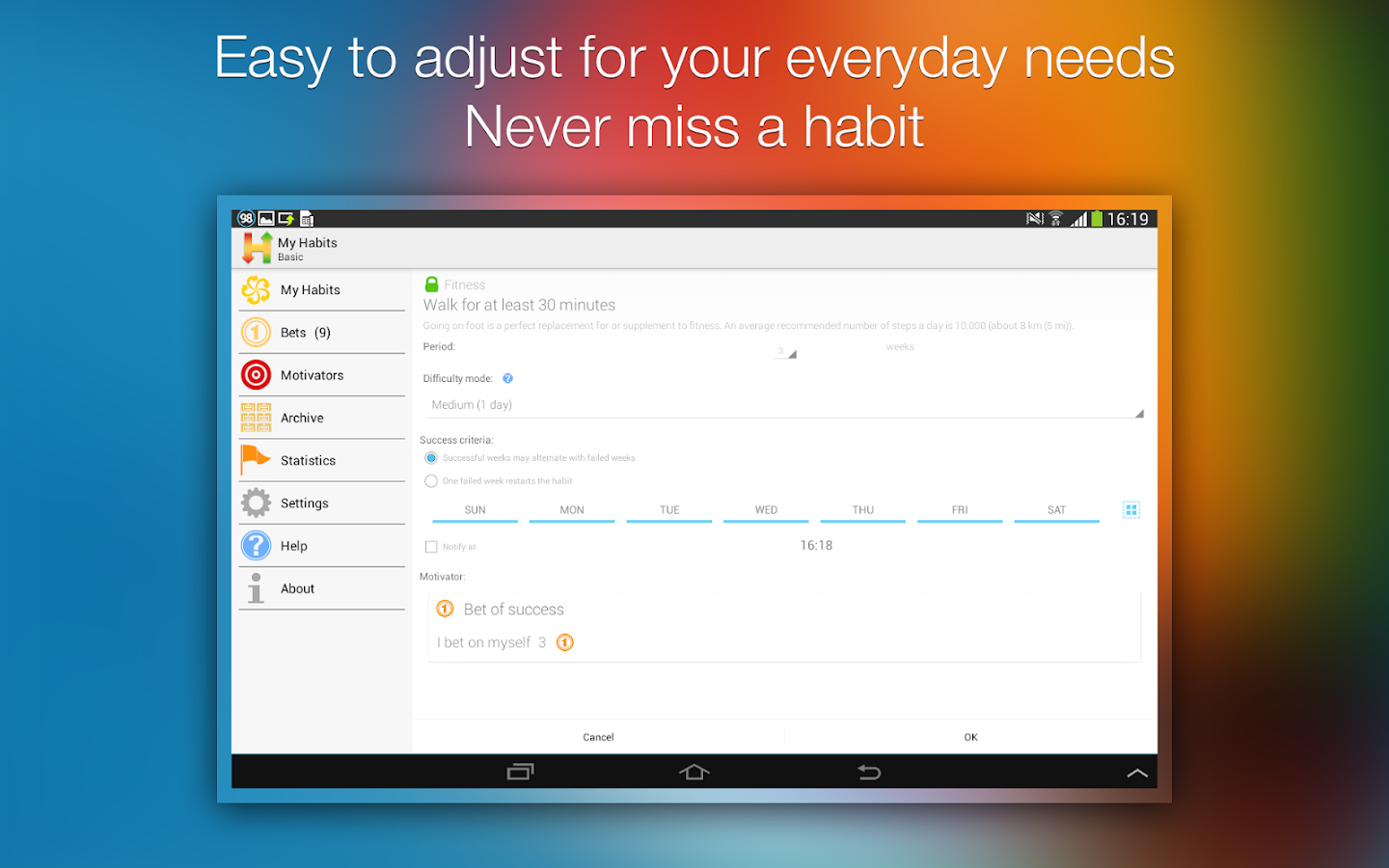 Habitizer. Habit Organizer- screenshot