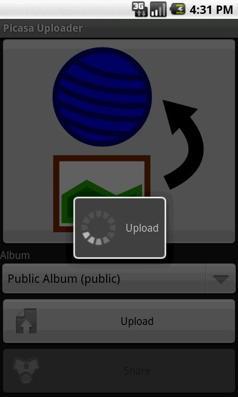 Picasa Uploader- screenshot