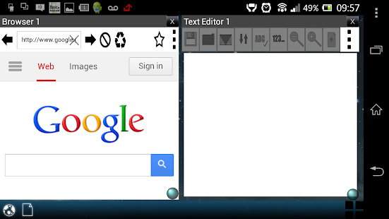 Multi Window Browser & Notepad - screenshot thumbnail