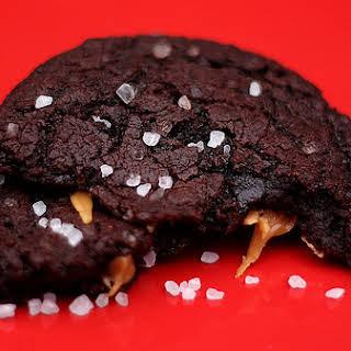 Chocolate Caramel Cookies with Sea Salt.