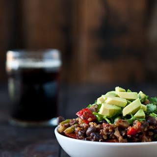 Mushroom Quinoa Porter Chili
