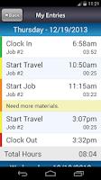 Screenshot of Labor Sync
