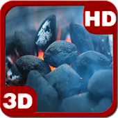 Fireplace Flame Sizzling Coal