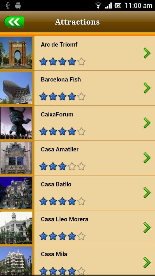 Barcelona Offline Travel Guide- screenshot