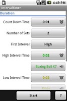 Screenshot of IntervalTimer