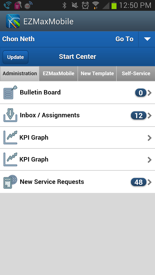 EZMaxMobile- screenshot