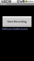 Screenshot of VoiceBox - Audio to Dropbox