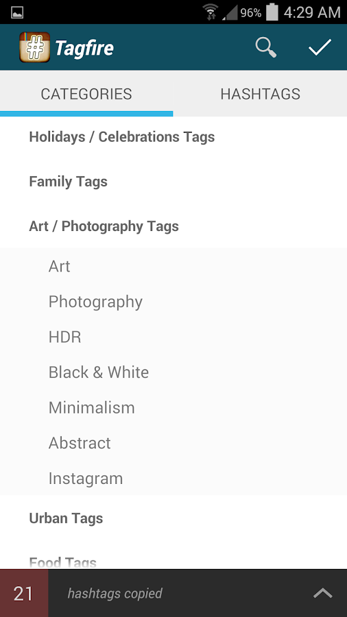 TagFire - Instagram likes tags