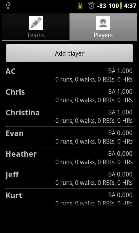 Softball Stats Pro- screenshot