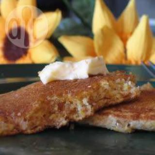Cheddar Polenta Pancakes